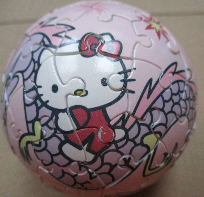 3 D Hello Kitty Puzzle in Rosa