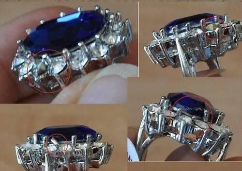 Ring Replica Kate Middleton mit Mangel