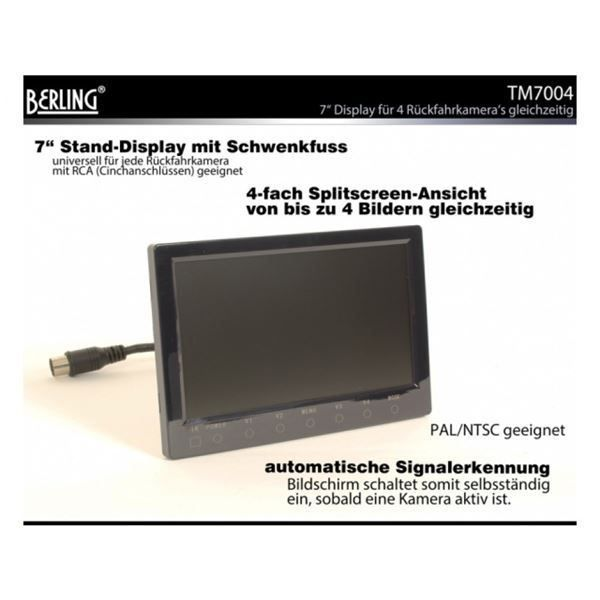 "7"" Quad-Display, 4-fach Splitscreen"