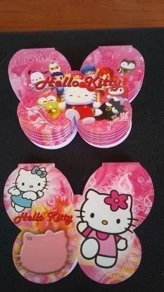 HELLO KITTY: 30pcs CARTES ANNIVERSAIRE