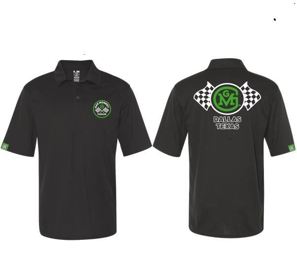 Gas Monkey Garage Polo Shirt Checkered