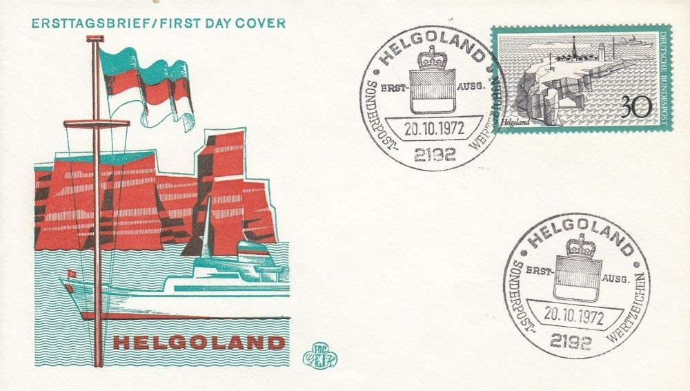1972 746 Helgoland FDC