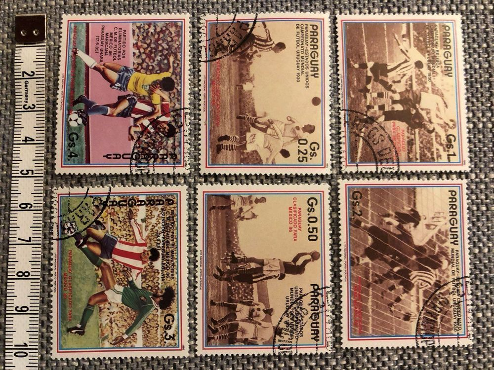 Briefmarken / Fussball 1986