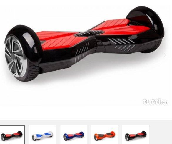 "6.5"" Hoverboard, Schwarz mit Rot, Transf"