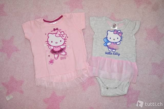 Hello kitty t-shirt set gr. 74