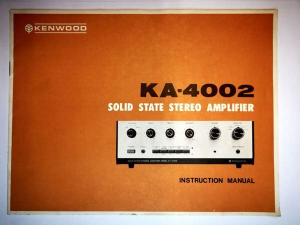 Kenwood KA-4002 manual english...