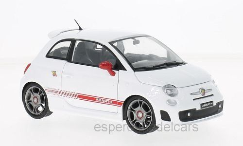 Fiat Abarth 500 2009 weiss / rot