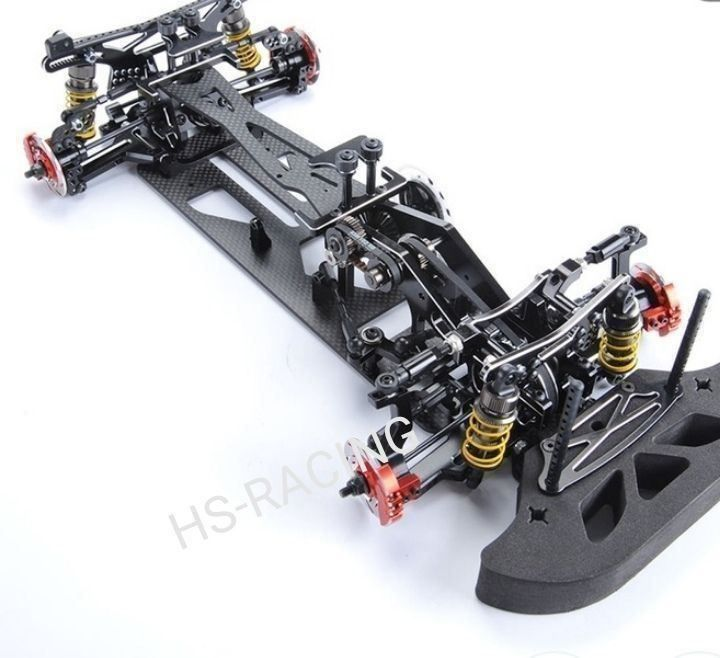 Rc chassis 1:10. Carbon look