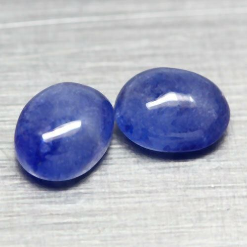 *SAPHIR* 2x Blue Oval Cab 4.65ct