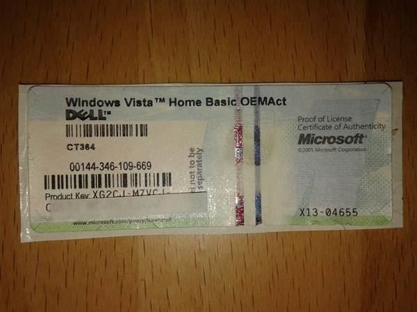 Windows Vista Home Basic Key: