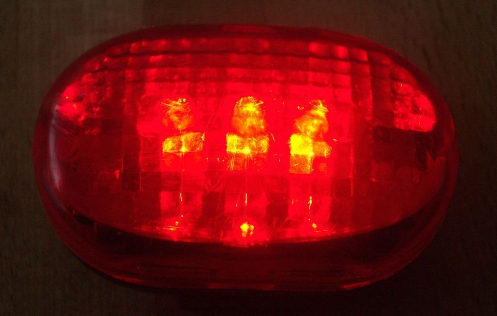 Velo Beleuchtung, Licht mit 3 LED, rot