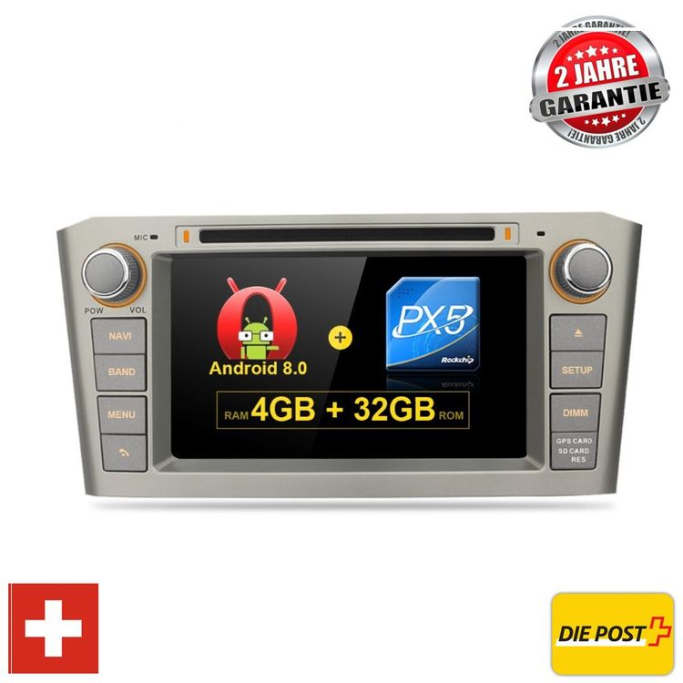 Toyota Avensis Android 8.0 Navi Usb T25