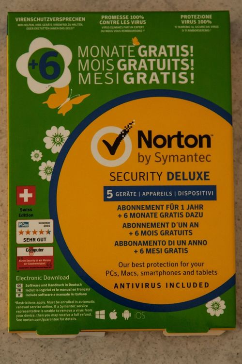 Norton Security Deluxe 5 ->für 18 Monate