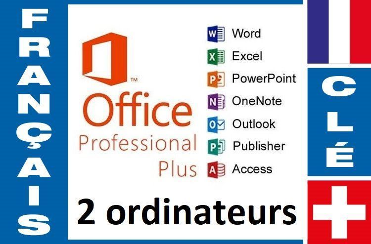 Office 2016 Pro Plus (2 ordinateurs)