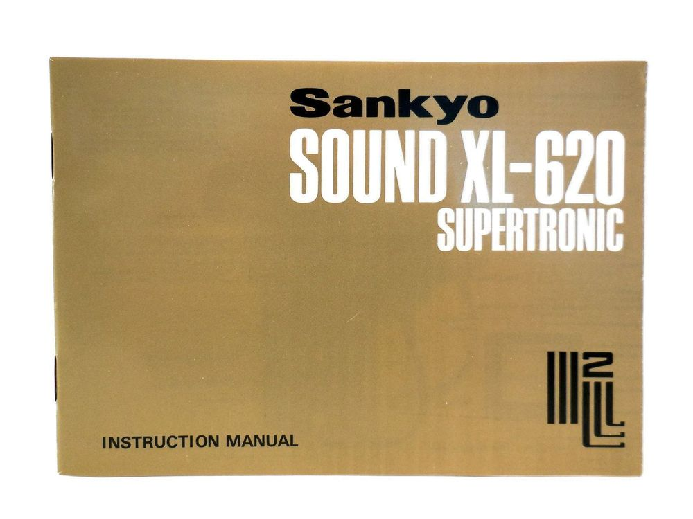 SANKYO SOUND XL-620 SUPERTRONIC Manual