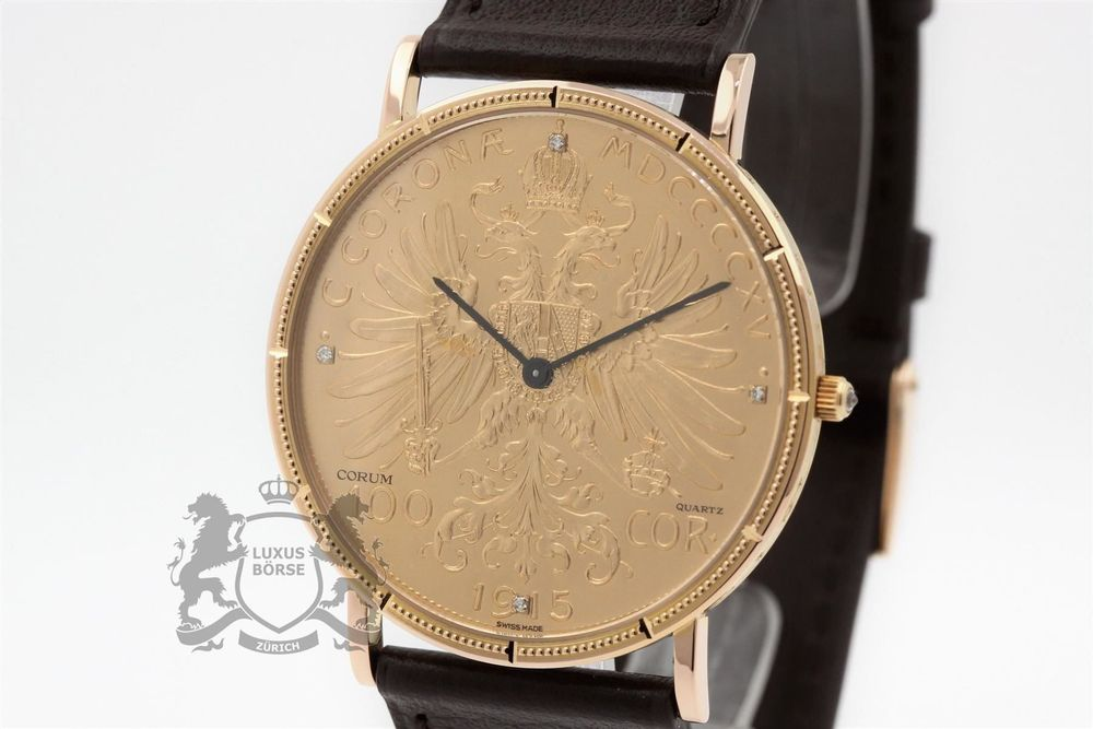 CORUM Coin Watch 18K 100 Kronen *3458