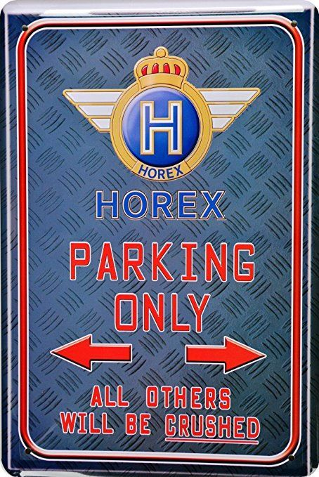 Blechschild-HOREX-PARKING ONLY