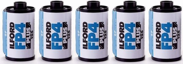 ILFORD FP4 Plus 125, 135-36 5-er Packung