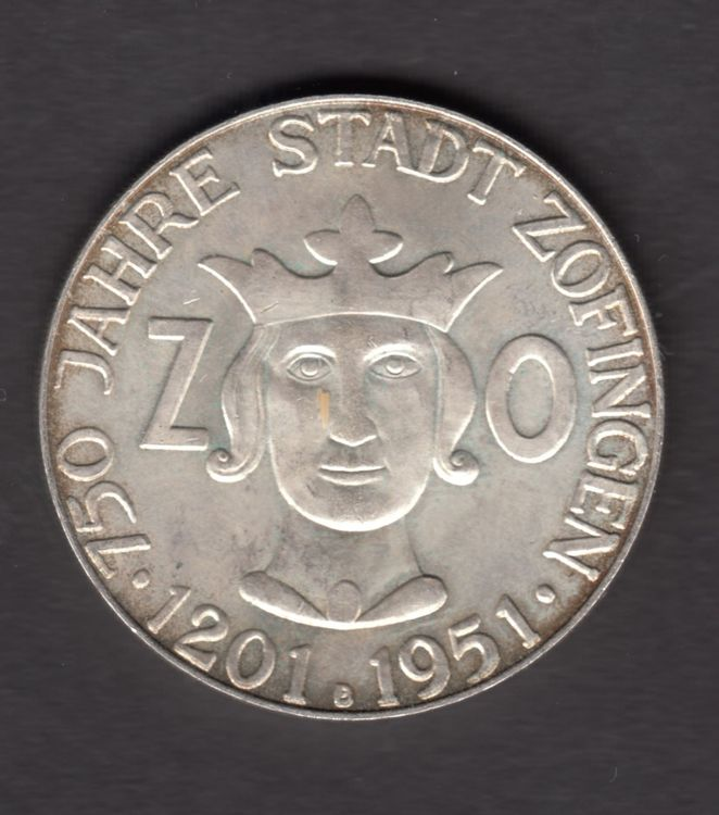Silber Medaille 15g / 33mm / 1951 ab 1.-