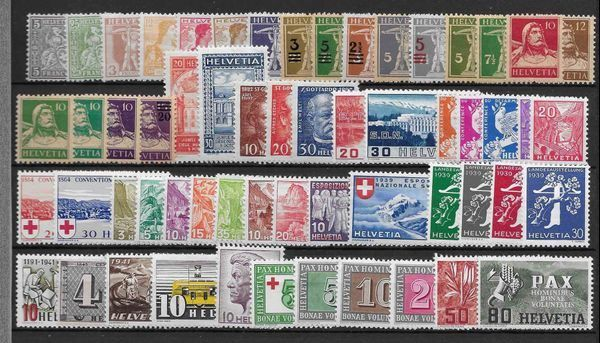 CH005 - Lot timbres CH **