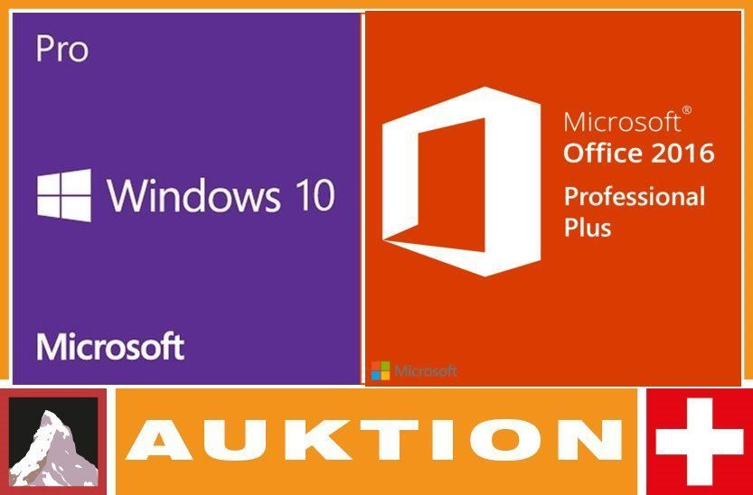 Win 10 Pro & Office 2016 Pro Plus Bundle
