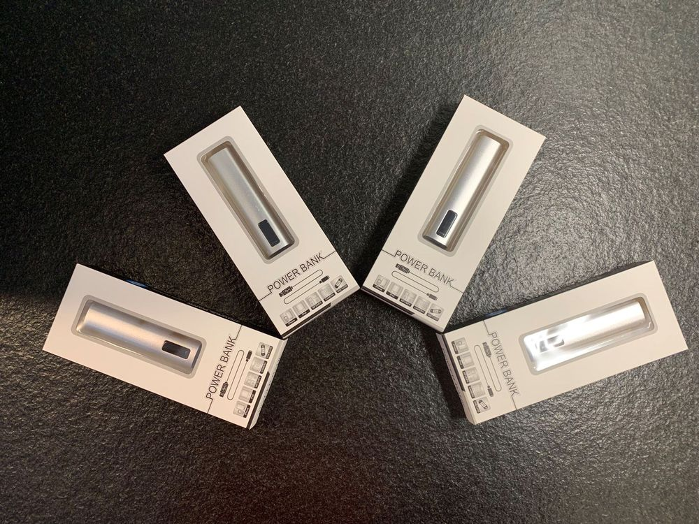 4x POWER BANK m. digitaler Anzeige ab1.-