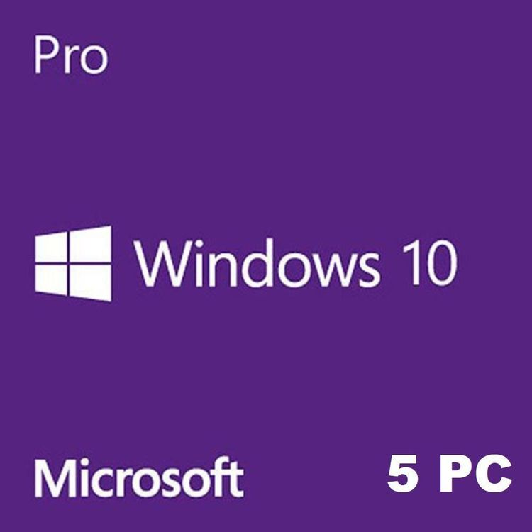 Windows 10 Pro für 5 Computern
