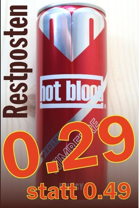 Hot Blood Energy Himbeere 0.25l