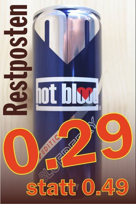 Hot Blood Energy Blueberry 0.25l