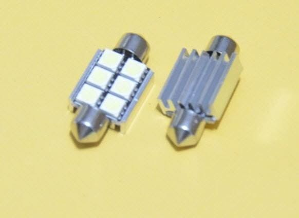2x LED Innenbeleuchtung  6 SMD 39mm 5050