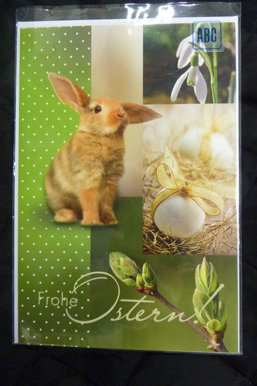 Frohe Ostern Karte mit Couvert