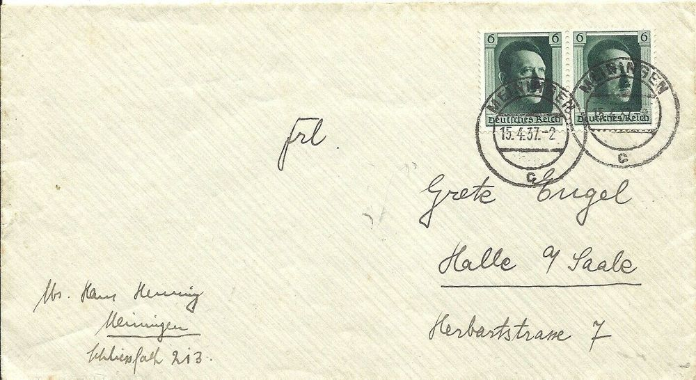 very rare lettre  Reich Allemand belle
