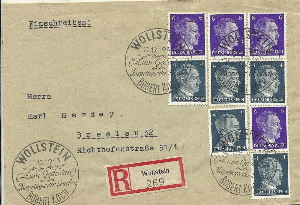lettre reich Allemand very rare special