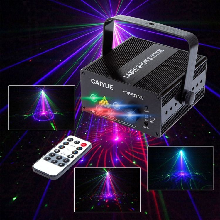 Profi 5 Lens 96 Patterns RGB Laser LED