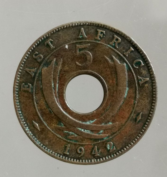 EAST AFRICA 5 CENTS 1942