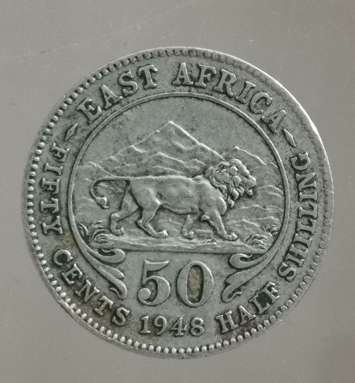 EAST AFRICA 50 CENTS 1948