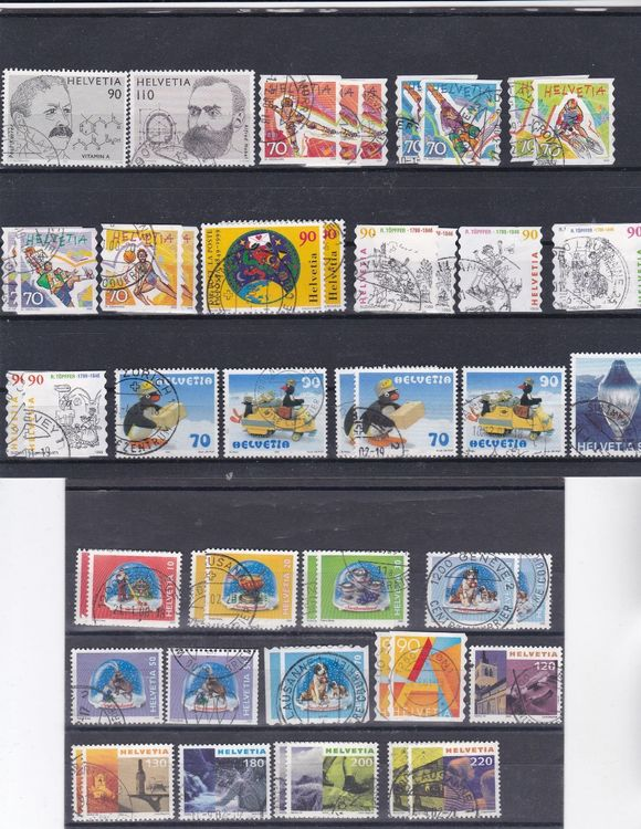 lot timbres Suisse