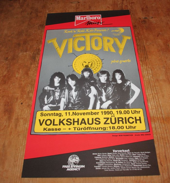 VICTORY Konzert Poster 1990