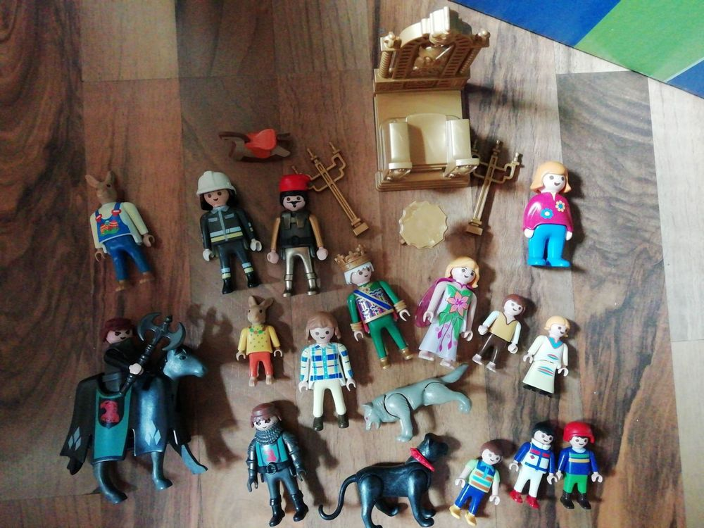 15 Playmobil Figuren plus Tiere
