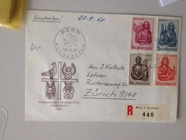 Couvert vom 23.9.1961