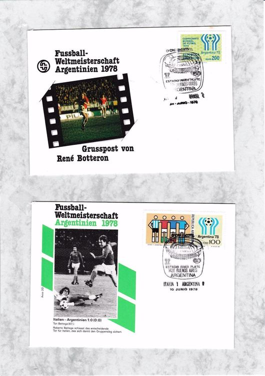Briefmarken-Fussball WM 1978 ARGENTINIEN
