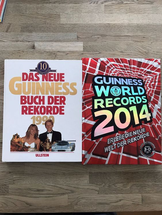 2 Stk. Bücher Guinness World Records