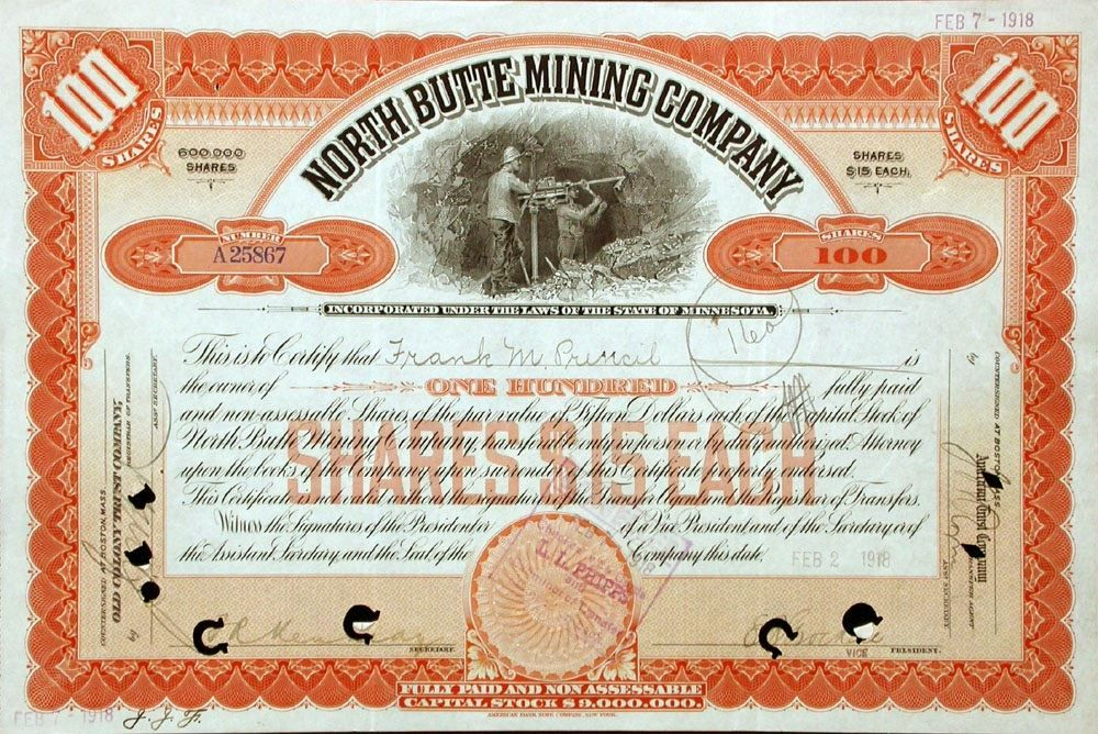 1912: North Butte Mining Company