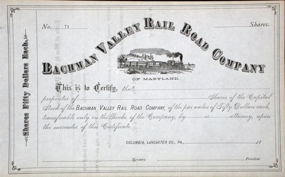1880er: Bachmann Valley Railroad Company