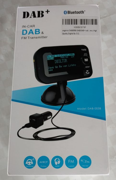 DAB +   FM Transmitter Bluetooth