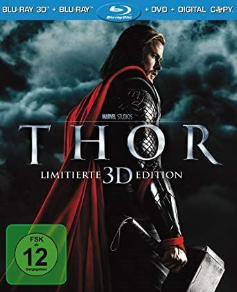 THOR Limited 3D Edition+Blu Ray +DVD