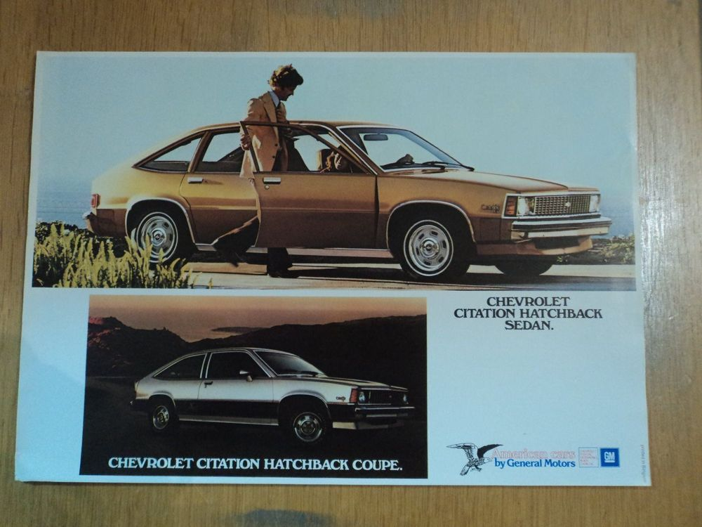 Chevrolet Citation Hatchback Prospekt