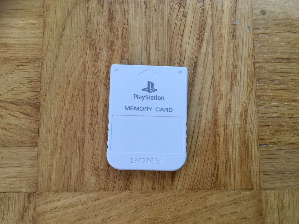 PS1 One Memory Card