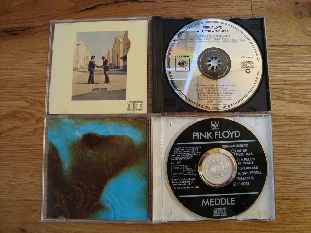 Pink Floyd Meddle Wish You Were 2x CD