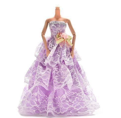 BARBIE KLEID PARTY KLEID VIOLET WEISS